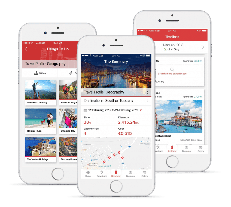 trip planner daily itineraries for experiences, thing to do and accommodations